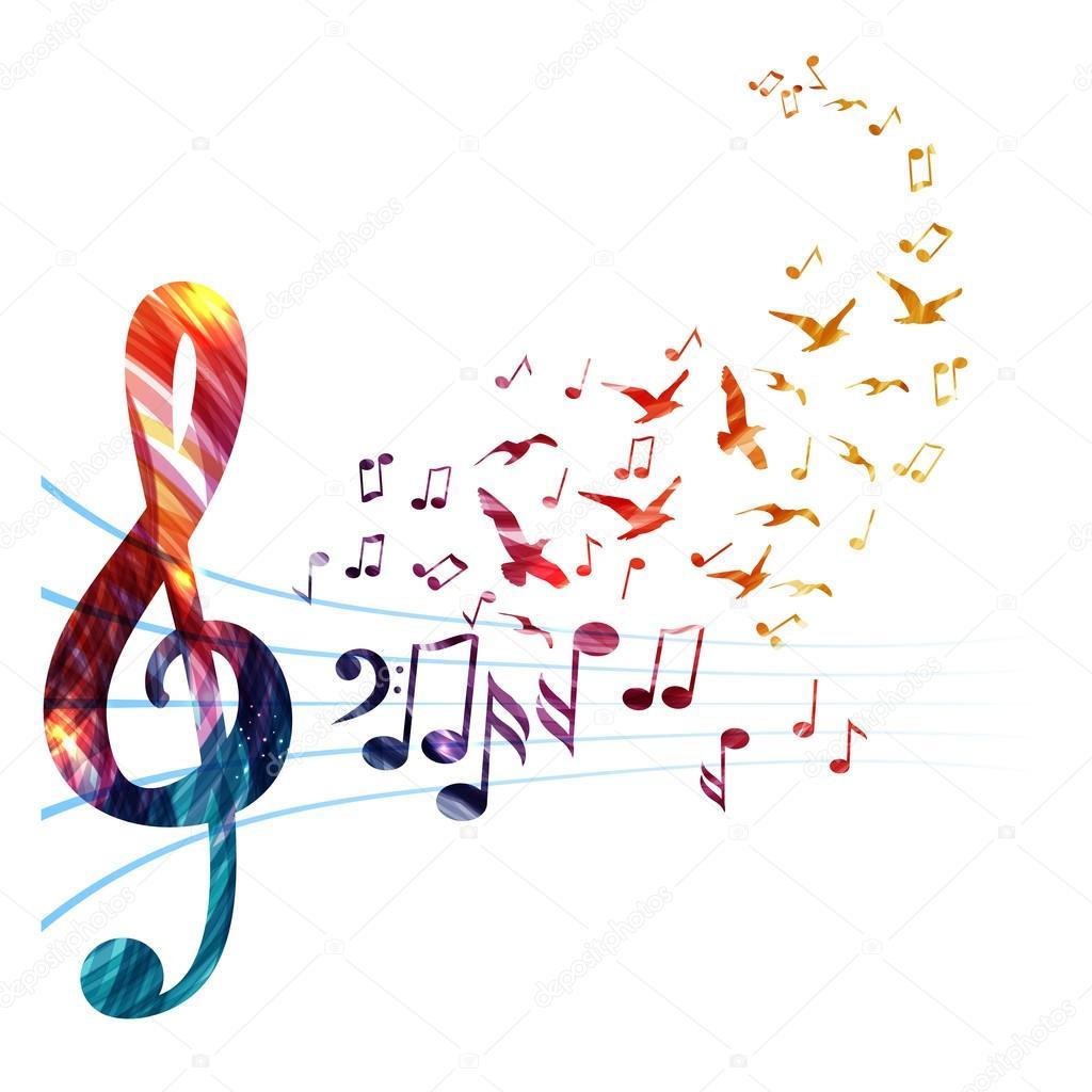 Нотки скрипичный ключ картинки 2