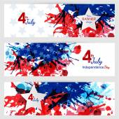 Set of 4th of july banners. — Stock Vector
