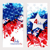 Set of 4th of july banners — Stock Vector