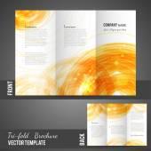 Three fold brochure design — Stok Vektör