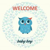 Welcome baby boy — Stockvektor