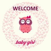 Welcome baby girl — Stock Vector