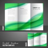 Three fold brochure design — Stock Vector