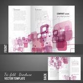 Three fold brochure design — Stock Vector
