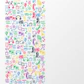 Social media sketch background — Stockvektor