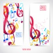 Two music banners — Stock Vector #59618429