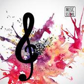 Musica di sottofondo — Vettoriale Stock