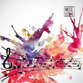 Music background — Stock Vector