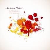Autumn colors, watercolor — Stock Vector