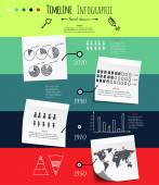 Infographic sketch — Stock Vector