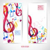 Two music banners — Stock Vector