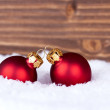 Christmas Balls with Copy Space — Stock Photo #51857393