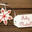 Feliz Natal, Portuguese Christmas Greetings — Stok fotoğraf