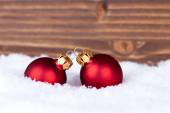 Christmas Balls with Copy Space — Stock Photo