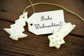 German Christmas Greetings — Stock Photo