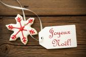 Joyeux Noel, French Christmas Greetings — Stock Photo