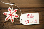 Feliz Natal, Portuguese Christmas Greetings — Stock Photo