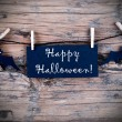 Label on Line with Happy Halloween — Stock Photo #52407105