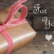 Gift with For You Text — Stock Photo #52807725