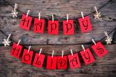 Happy Holidays Greetings on a Line — Stock Photo