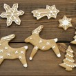 Ginger Bread Reindeers, Stars, Snowflakes and Trees — Stock Photo #54107205