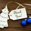 Christmas Background with Thank You — Stock Photo #54107207