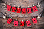 Red Tags with Joyeux Noel — Stock Photo