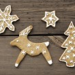 Christmas or Winter Background with Reindeer — Stock Photo #54730585