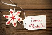 Buon Natale, Italian Christmas Greetings — Stock Photo