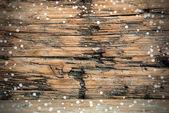 Snowy Wooden Background — Stockfoto