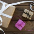 Three Gifts With Ribbon — Stock Photo #56190215
