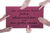 German Christmas and New Year Greetings — Stockfoto