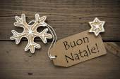 Italian Christmas Greetings with Ginger Breads — Stock Photo