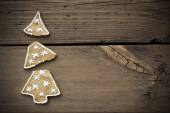 Broken Christmas Tree Cookie With Frame — Stock Photo