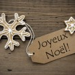 French Christmas Greetings with Ginger Breads — Stock Photo #56952887