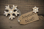 French Christmas Greetings with Ginger Breads — Stock Photo