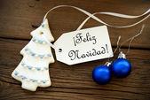 Christmas Background with Spanish Christmas Greetings — Foto de Stock