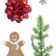 Christmas Set With Four Symbols — Stock Photo #58539569