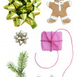 Christmas Set With Seven Symbols — Stock Photo #58539571