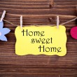 Yellow Label With Life Quote Home Sweet Home — Stock Photo #59486373