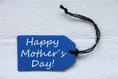 Blue Label With English Text Happy Mothers Day — Stockfoto