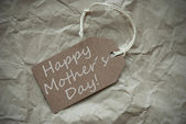 Beige Label With Happy Mothers Day Paper Background — Stock Photo