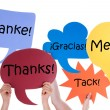 Many Colorful Speech Balloons With Thank You Different Languages — Stock Photo #68566501