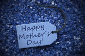 Purple Stones With Label Happy Mothers Day — Stock Photo