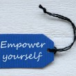 Blue Label With English Text Empower Yourself — Stock Photo #68939609