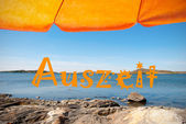 Swedish Coast With German Auszeit Means Downtime — Stock Photo