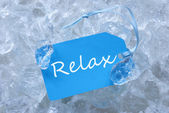 Label On Ice With Relax — ストック写真