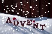Advent Mean Christmas Time Snowflakes Santa Hat — Stock Photo