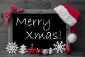 Blackboard Santa Hat Kerstmis decoratie Merry Xmas — Stockfoto