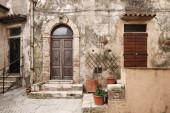 Tuscan village Capalbio narrow view — Stock Photo